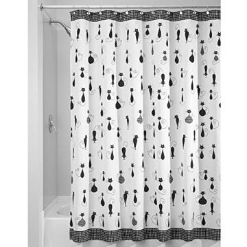 interdesign sophisticat duschvorhang vorhang f r badewanne und dusche 180 0 cm x 200 0 cm. Black Bedroom Furniture Sets. Home Design Ideas