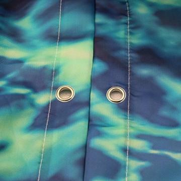 Lonior Wasserdichter Duschvorhang Anti-Schimmel Duschvorhänge 3D Badvorhänge Anti-Bakteriell Dusche Vorhang 180 x 180 cm mit 12 Duschvorhangringe für Badezimmer, Meer - 4