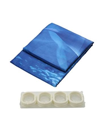 Lonior Wasserdichter Duschvorhang Anti-Schimmel Duschvorhänge 3D Badvorhänge Anti-Bakteriell Dusche Vorhang 180 x 180 cm mit 12 Duschvorhangringe für Badezimmer, Meer - 6