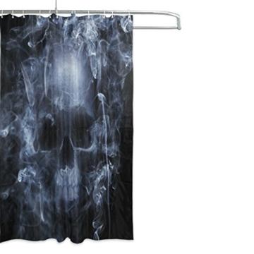 My Daily Smoke Skelett Totenkopf Vorhang für die Dusche 167,6x 182,9cm, schimmelresistent & Wasserdicht Polyester Dekoration Badezimmer Vorhang - 2