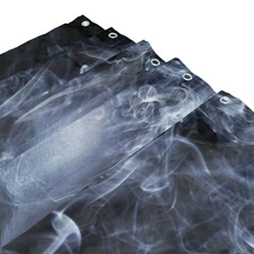 My Daily Smoke Skelett Totenkopf Vorhang für die Dusche 167,6x 182,9cm, schimmelresistent & Wasserdicht Polyester Dekoration Badezimmer Vorhang - 3