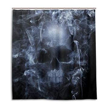 My Daily Smoke Skelett Totenkopf Vorhang für die Dusche 167,6x 182,9cm, schimmelresistent & Wasserdicht Polyester Dekoration Badezimmer Vorhang - 1