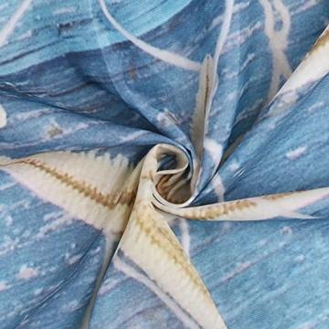 Seesterne und Muscheln Duschvorhang Anti Schimmel, viele schöne Duschvorhänge zur Auswahl, hochwertige Qualität, inkl. wasserdicht, Anti Schimmel Effekt, 180 x 180 cm - 3