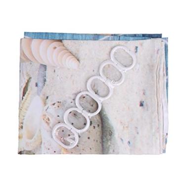 Seesterne und Muscheln Duschvorhang Anti Schimmel, viele schöne Duschvorhänge zur Auswahl, hochwertige Qualität, inkl. wasserdicht, Anti Schimmel Effekt, 180 x 180 cm - 4