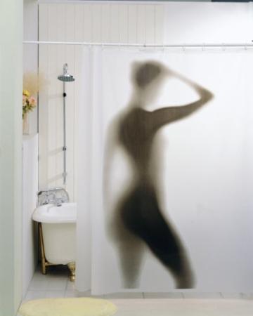 Sexy Frau Duschvorhang - Naked Girl - 1