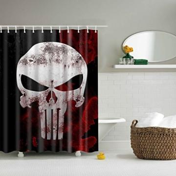 Weiß Totenkopf Vorhang für die Dusche 1PC für Zuhause und Bad - 2