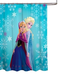 Disney Frozen Anna und Elsa, Duschvorhang, Anna and Elsa Single, Shower Curtain - 1
