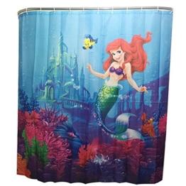 Duschvorhang Shower Curtain mit 12 Duschvorhangringe anti schimmel wasserdicht (Meerjungfrau) - 1