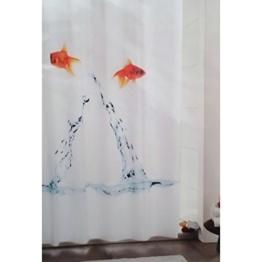 Innocom Duschvorhang springende Fische inkl. 12 Ringe - 1