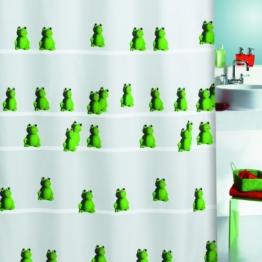 Spirella 10.10643 Duschvorhang Quack Green, textil B x H: 180 cm x 200 cm - 1