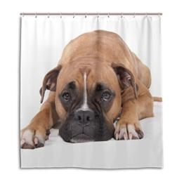 XiangHeFu Duschvorhang mit Haken 167,6x 182,9cm Lovely Boxer Hund (Wasserdicht und Schimmelresistent 100%) für Frau Mann Badezimmer Home Decor - 1