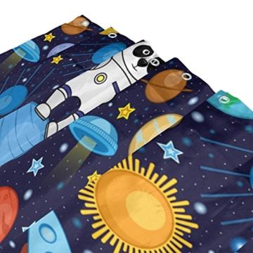 ALAZA Bunte Panda Astronauten-Weltraum Planet Duschvorhang 60 x 72 inch, schimmelresistent und Wasserdicht Polyester Dekoration Badezimmer-Vorhang - 3