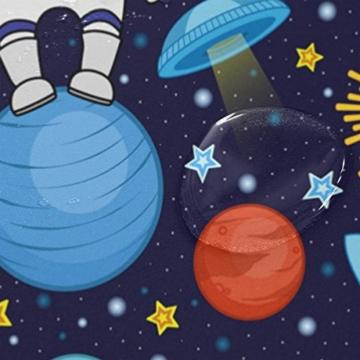 ALAZA Bunte Panda Astronauten-Weltraum Planet Duschvorhang 60 x 72 inch, schimmelresistent und Wasserdicht Polyester Dekoration Badezimmer-Vorhang - 4