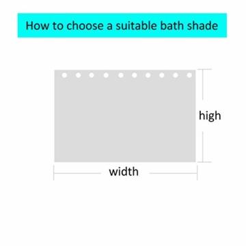 KnSam Duschvorhang Anti-Schimmel Wasserdicht Vorhänge an Badewanne Bad Vorhang für Badezimmer Wald Sternen Himmel 100% PEVA inkl. 12 Duschvorhangringen 90 x 180 cm - 4