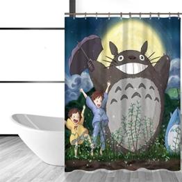 Totoro Cartoon Cute Duschvorhänge Badezimmer Badewanne Vorhänge - 1