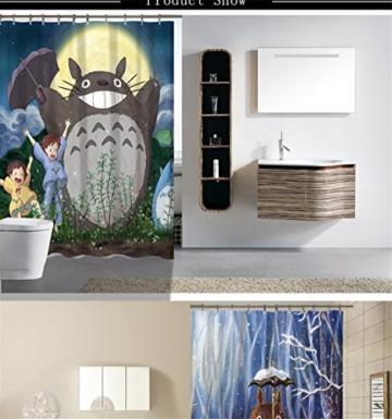 Totoro Cartoon Cute Duschvorhänge Badezimmer Badewanne Vorhänge - 2