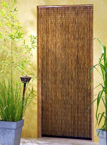 Bambusvorhang Türvorhang Saigon 90×200 cm mit 90 Strängen auf 90cm Breite -