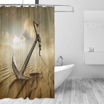 CPYang Duschvorhänge Desert Anchor Muster Wasserdicht Schimmelresistent Badvorhang Badezimmer Home Decor 168 x 182 cm mit 12 Haken - 2