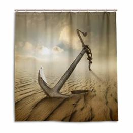 CPYang Duschvorhänge Desert Anchor Muster Wasserdicht Schimmelresistent Badvorhang Badezimmer Home Decor 168 x 182 cm mit 12 Haken - 1
