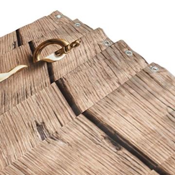 jstel Anker auf Holz Hintergrund Polyester-Duschvorhang Schimmel resistent und wasserfest-182,9x 182,9cm für Home Extra Lang Badezimmer Deko Dusche Bad Vorhänge Liner mit 12Haken - 3