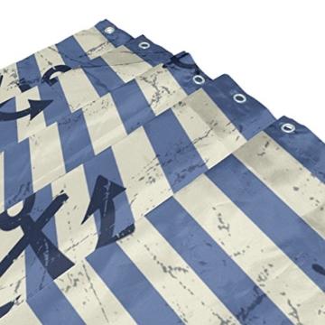 mydaily Vintage Anker blau Stripe Duschvorhang 152,4x 182,9cm, schimmelresistent & Wasserdicht Polyester Dekoration Badezimmer Vorhang - 3
