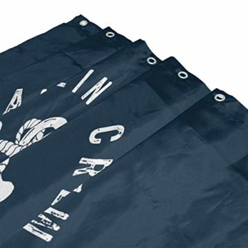 vinlin Ocean Sea Maritim Anker Muster Wasserdicht Badezimmer Zubehör Vorhang für die Dusche Badewanne Vorhang 182,9x 182,9cm - 3