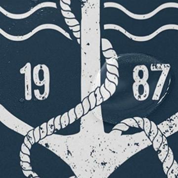 vinlin Ocean Sea Maritim Anker Muster Wasserdicht Badezimmer Zubehör Vorhang für die Dusche Badewanne Vorhang 182,9x 182,9cm - 4