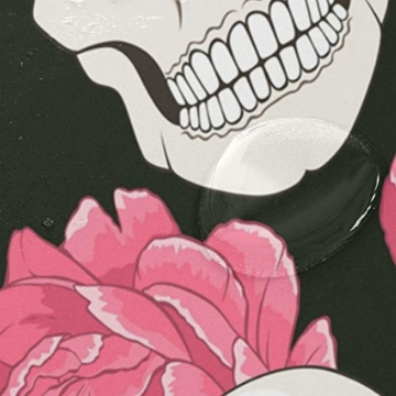 BIGJOKE Duschvorhang, Halloween, Totenkopf, Blumen, schimmelresistent, wasserdicht, Polyester, 12 Haken, 167,6 x 182,9 cm, Heimdekoration - 4