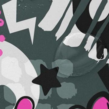 BIGJOKE Duschvorhang, Halloween, Totenkopf, Herz-Muster, schimmelresistent, wasserdicht, Polyester, 12 Haken, 167,6 x 182,9 cm, Heimdekoration - 4