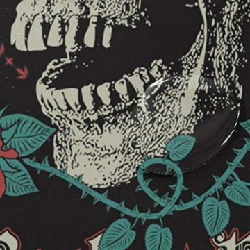 BIGJOKE Duschvorhang, Halloween-Totenkopf-Rosen-Zitat, schimmelresistent, wasserdicht, Polyester, 12 Haken, 167,6 x 182,9 cm, Heimdekoration - 4