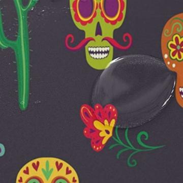 BIGJOKE Duschvorhang, Halloween, Totenkopf, Schimmelresistent, wasserdicht, Polyester, 12 Haken, 167,6 x 182,9 cm, Heimdekoration - 4