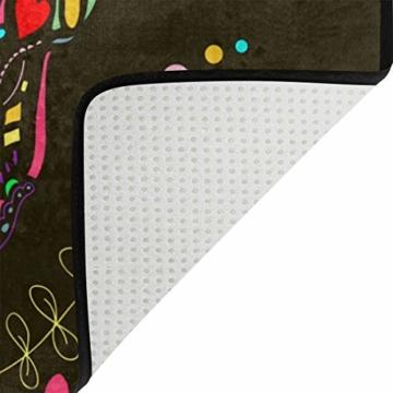 ISAOA Rutschfeste Badezimmermatte mit Totenkopf-Motiv, für den Innenbereich, 60 x 40 cm, wasserdicht, 183 x 183 cm, waschbarer Duschvorhang mit 12 Haken - 7