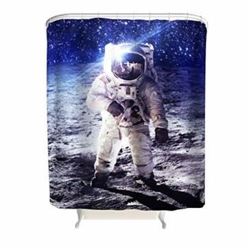 MINNOMO SchöNe DuschvorhäNge Astronauten Galaxy Stars Space Pattern Weiche wasserdichte DuschvorhäNge FüR Windows Bad Indoor White 36x72inch -